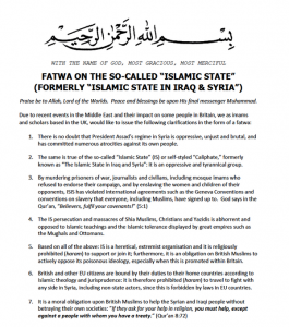 Fatwa against IS
