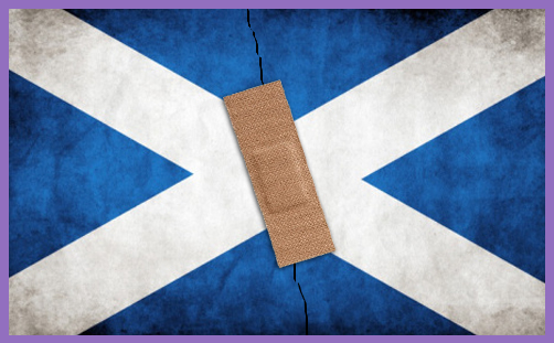 Scottish Flag mended