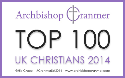 Top 100 Christians 2014 Cranmer