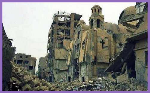 Destroyed Church Syria