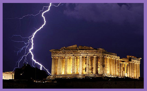 Parthenon lightning2