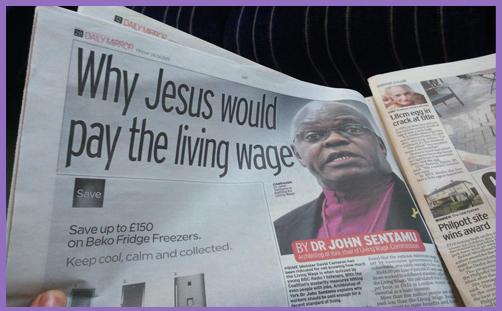 Sentamu - living wage2