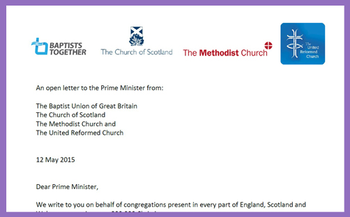 Churches Letter to Prime Minister2