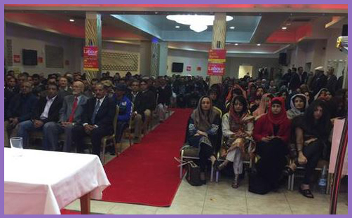 Labour election rally segregated seating1a