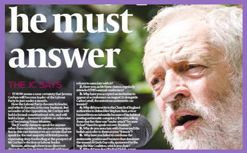 Corbyn Jewish Chronicle 2