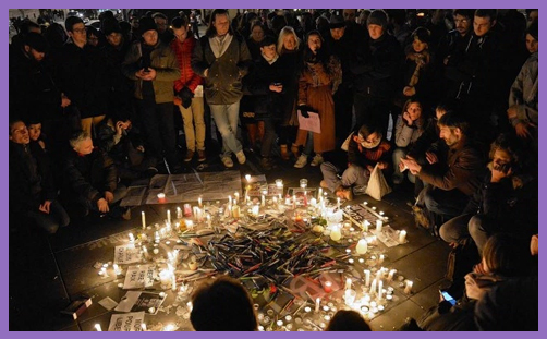Paris Shootings Vigil