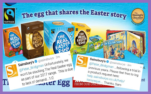 Real Easter Egg - Sainsburys response 1