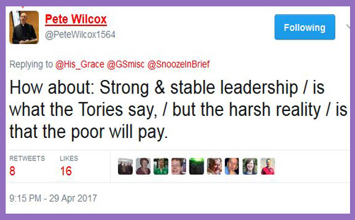 Vote Tory - poor will pay