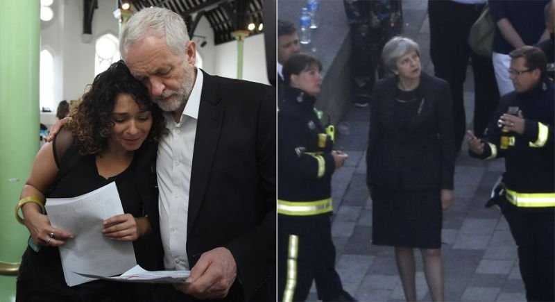 Corbyn May Grenfell Tower visit