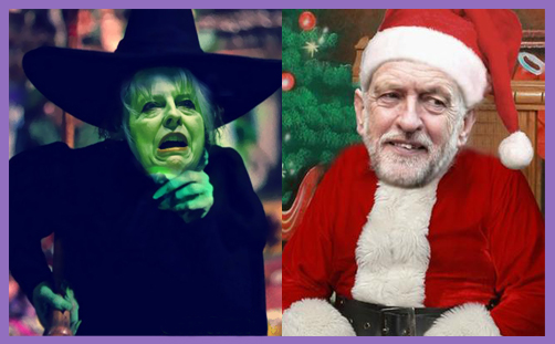 May witch Corbyn Santa
