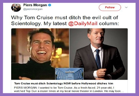 Scientology cult - Piers Morgan