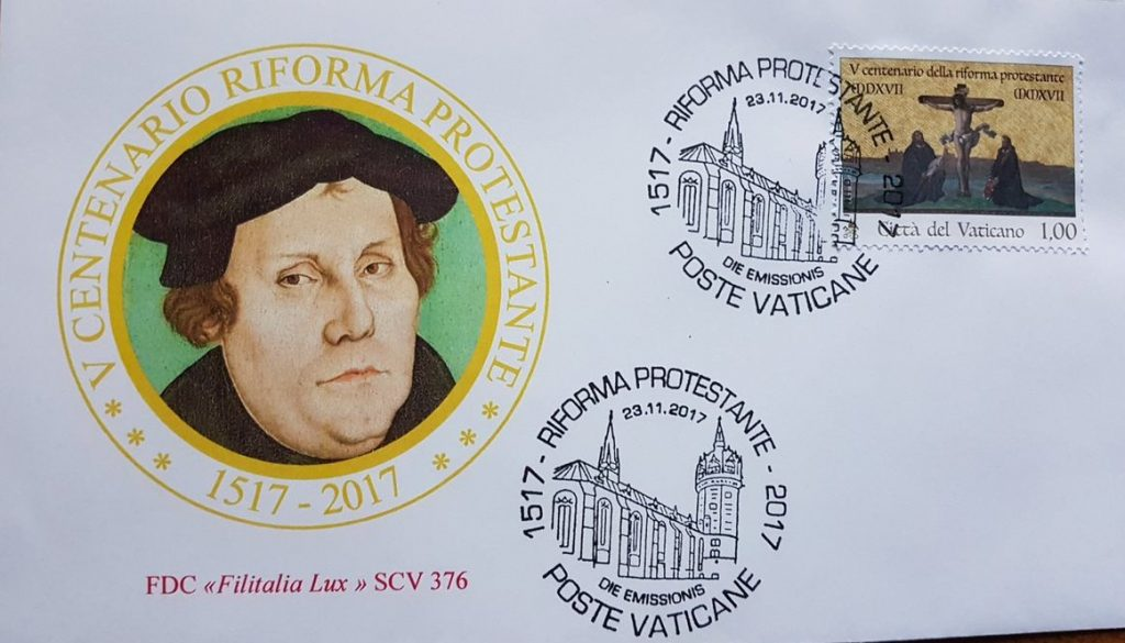 vatican stamp reformation luther