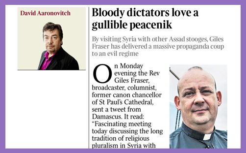 giles fraser david aaronovitch times syria