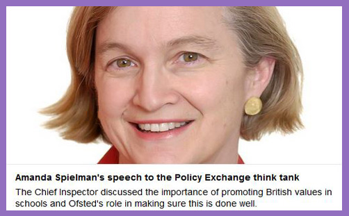 Ofsted Amanda Spielman British Values Policy Exchange