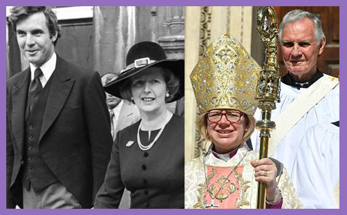 Jonathan Aitken with Thatcher Bishop of London
