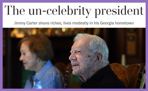 Jimmy Carter un-celebrity president