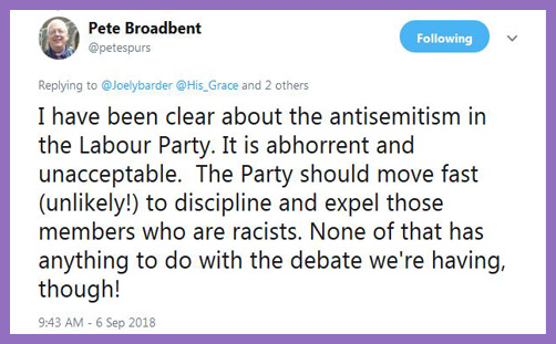 Labour antisemitism - Bishop Pete Broadbent