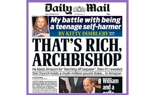mail welby church amazon shares