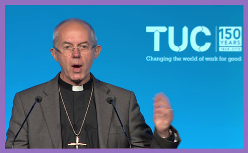 Welby TUC conference gig economy evil