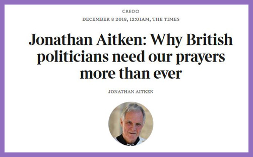 jonathan aitken times credo pray for parliament