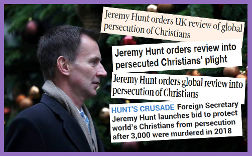 Jeremy Hunt FCO Christian persecution