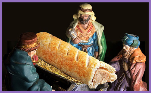 Greggs vegan sausage roll nativity
