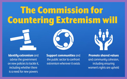 Commission countering extremism