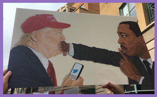 trump twitter martin luther king