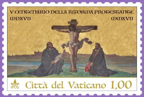 vatican stamp reformation luther melanchthon