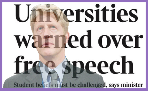 jo johnson freedom of speech universities