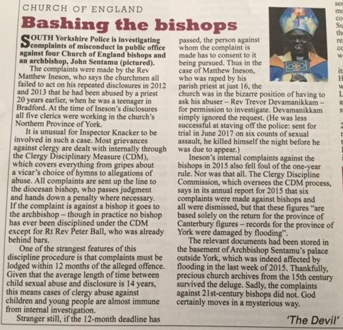 private eye archbishop sentamu