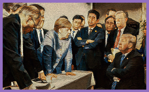 G7 Summit oil painting