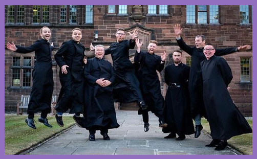 jumping clergy