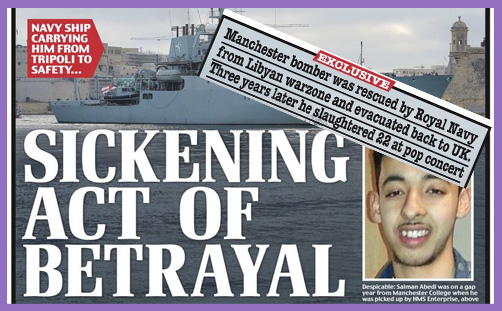 manchester suicide bomber royal navy