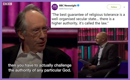 BBC Newsnight secular neutrality