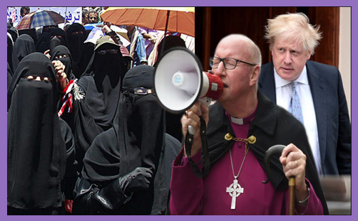 Boris Johnson Burqa Bishop