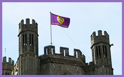 Ely Cathedral UKIP gay pride flag