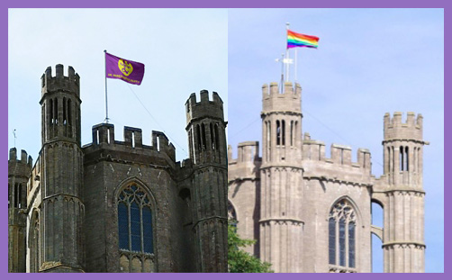 Ely Cathedral UKIP flag Pride flag IPSO Daily Mail