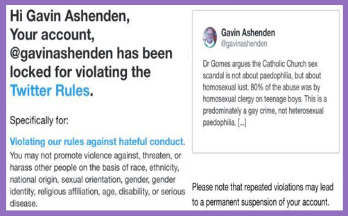 Bishop Gavin Ashenden Twitter block