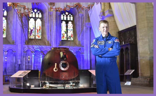 Tim Peake spaceship Peterborough Cathedral