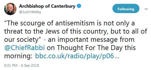 antisemitism Welby on Sacks
