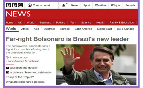 Bolsonaro far right wing