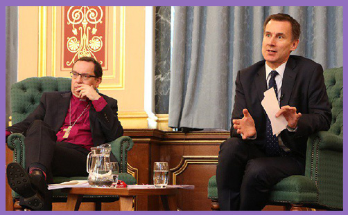Jeremy Hunt Bishop Philip Mountstephen FCO report christian persecution