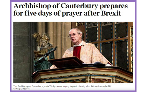 Welby Brexit prayer