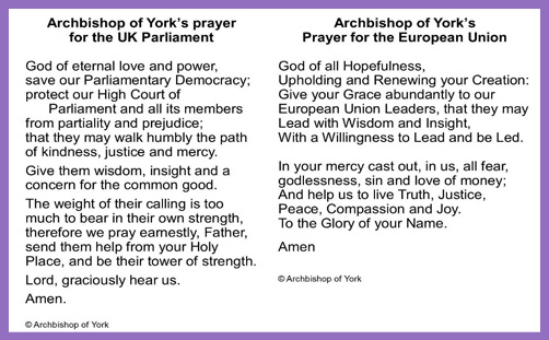 Church EU Europe Brexit prayer