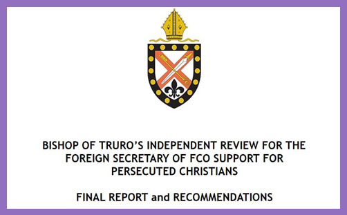 persecuted Christians truro report fco