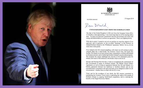 Boris Johnson theses backstop letter tusk