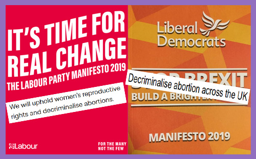 Labour LibDem manifesto decriminalise abortion
