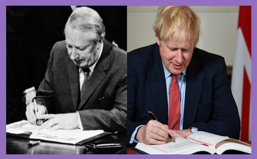 heath eec boris withdrawal agreement sign brexit day