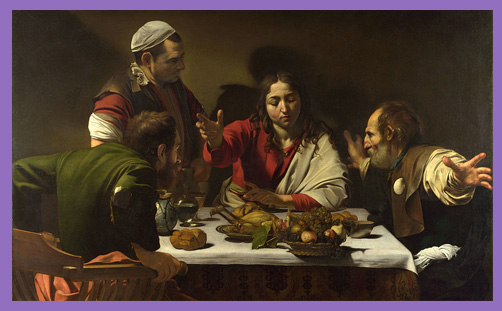 Supper at Emmaus caravaggio